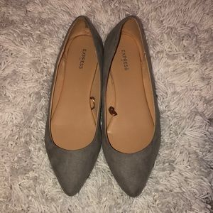 Soft grey flats by express